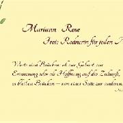 Freie Rednerin Mariann Rose