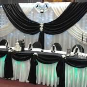 Hochzeitsdekoration in schwarz Farbe