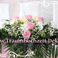 Traumhochzeit-Deko